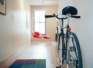 Bike in a hallway